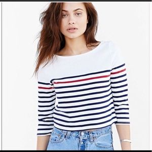 BDG Red, White, and Blue Crop Top